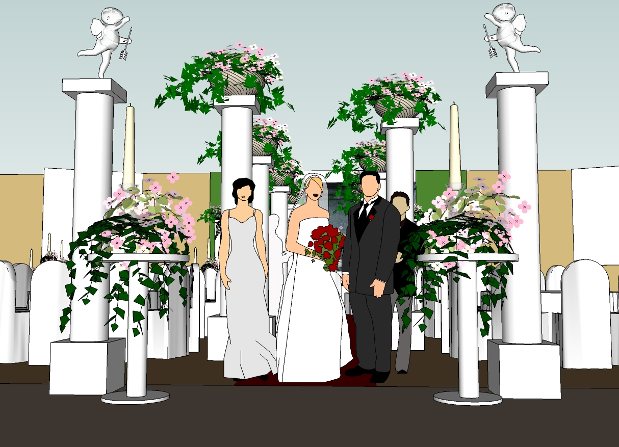 Make your dream wedding at sunway carnival conventional hall for Ancient greek decoration ideas