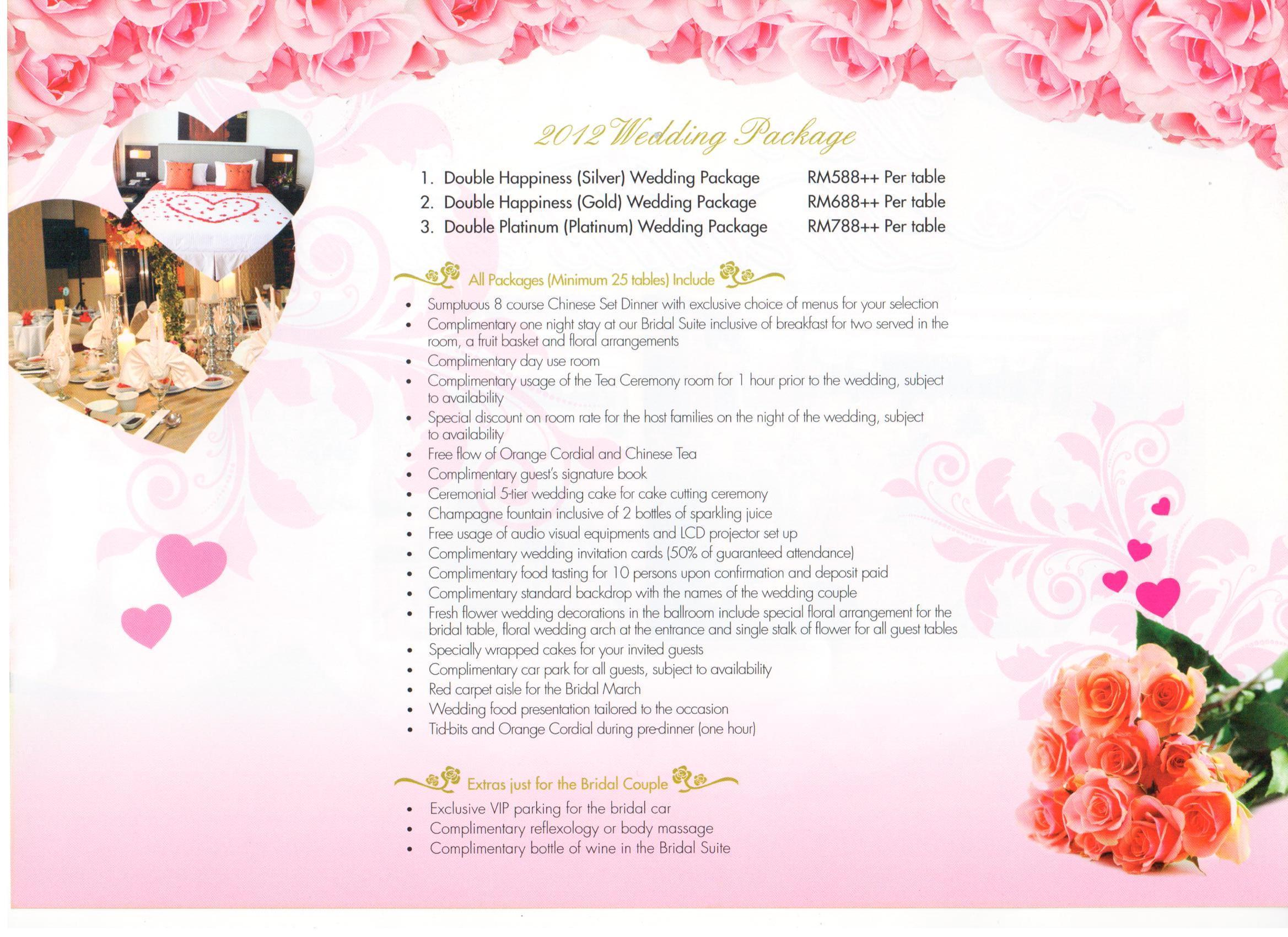 wedding flower brochure